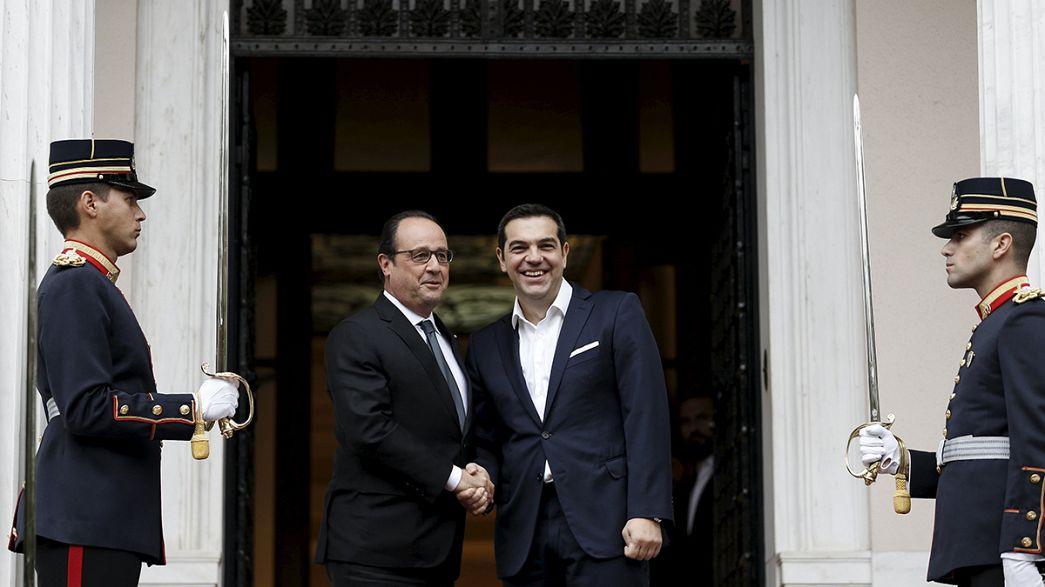 Hollande esprime appoggio e apprezzamento alla Grecia