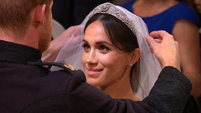 Prince Harry and Meghan Markle meet in St. George\'s Chapel