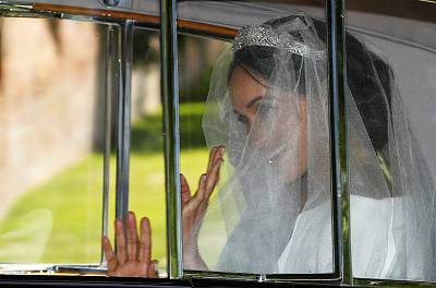Meghan Markle departs for her wedding to Prince Harry