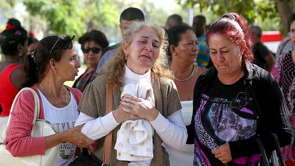 Image: Relatives of victims of the Boeing 737 plane that crashed after taki
