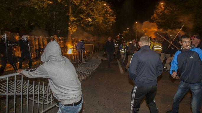 مشادات عنيفة على هامش مظاهرة للمعارضة بمونتينيغرو