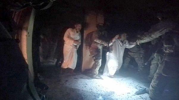 Les images fortes de la libération des otages d'Etat islamique