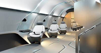 The capsule\'s\' seats and lighting are designed to promote