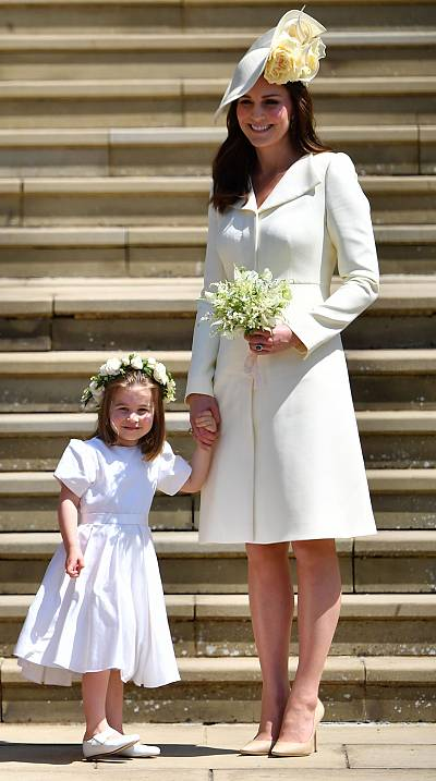 The Duchess of Cambridge didn\'t commit a faux pas while wearing white to Prince Harry and Meghan Markle\'s wedding, says an etiquette expert.