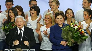 Polonya'da seçimin galibi Kanun ve Adalet Partisi