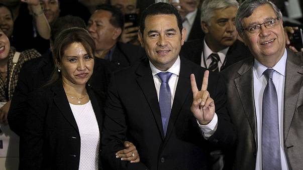 A former comedian is elected president in Guatemala