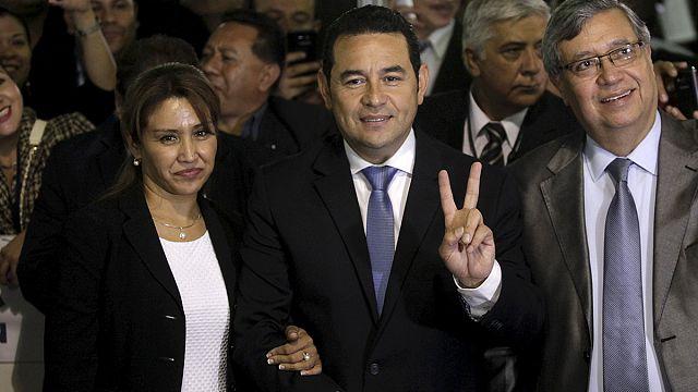 Guatemala'yı komedyen devlet başkanı yönetecek