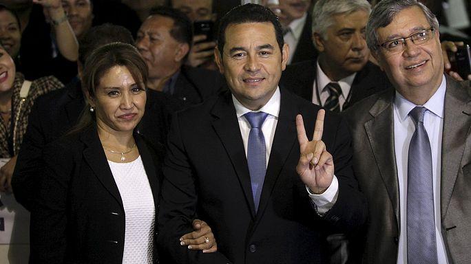 Comediante será novo presidente da Guatemala