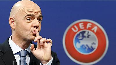 Gianni Infantino candidat à la présidence de la FIFA