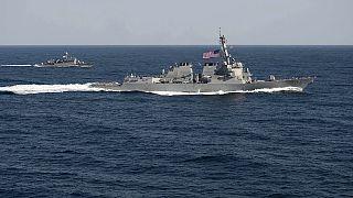 افزایش تنش های بین المللی با حضور ناو جنگی آمریکا در دریای جنوبی چین