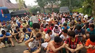 گزارش تصویری: اعتصاب غذای پناهجویان افغان در اندونزی