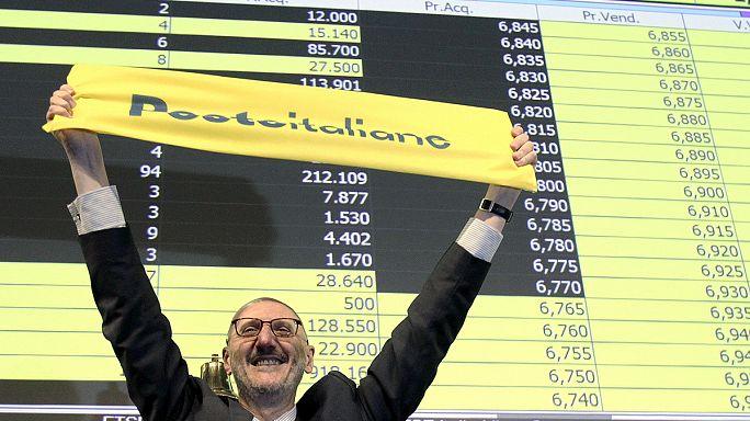 أسهم مؤسسة البريد الإيطالية في بورصة ميلانو