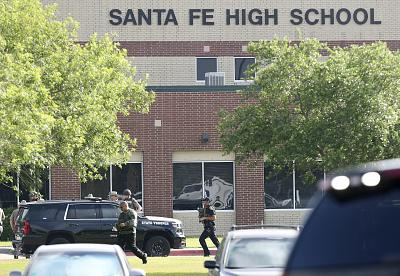 Santa Fe High School, the scene of a mass shooting on Friday.
