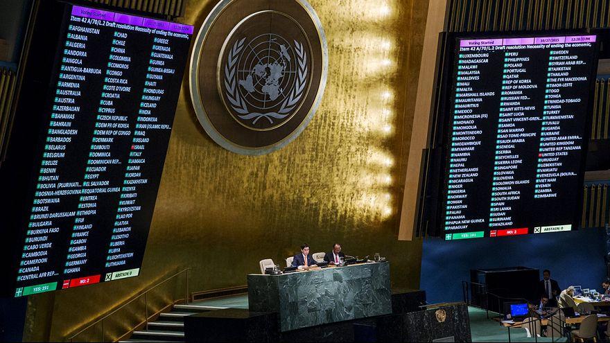 الولايات المتحدة تصوت ضد قرار رفع الحصار عن كوبا
