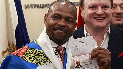 In the red corner: Former boxing star Jones Jr picks collects Russian passport