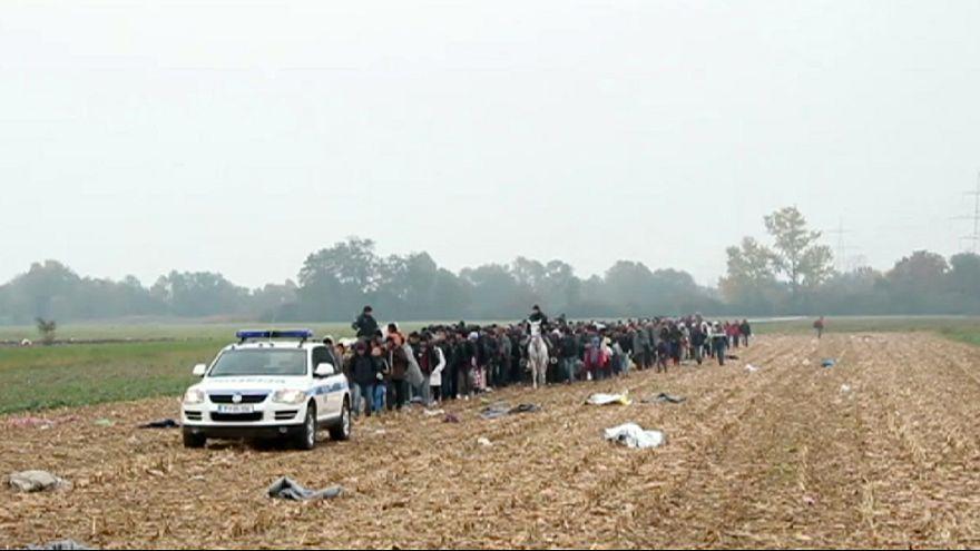 Словения повезет беженцев в Австрию поездами