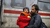Trenes especiales para los refugiados entre Croacia y Eslovenia