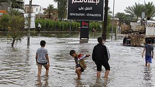Víz alatt Bagdad egy része