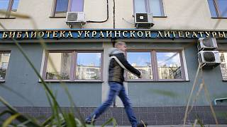 Russian police raid Ukrainian library in Moscow