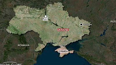 Explosionsserie durch brennendes Munitionslager in Ostukraine