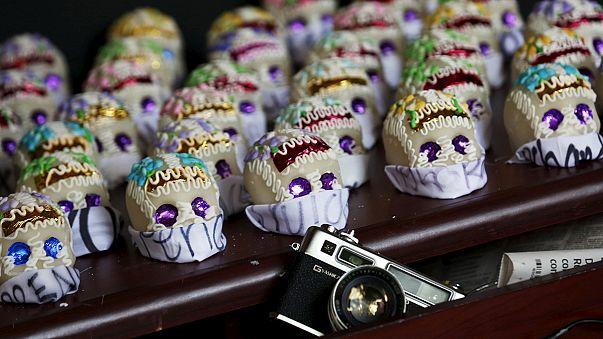 Ofrenda a los periodistas mexicanos asesinados