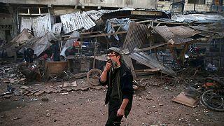 دستکم چهل کشته در حمله به بازار شهر دومای سوریه