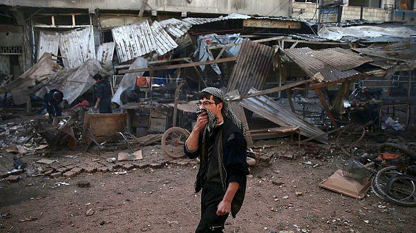 عشرات القتلى والجرحى في قصف صاروخي على دوما