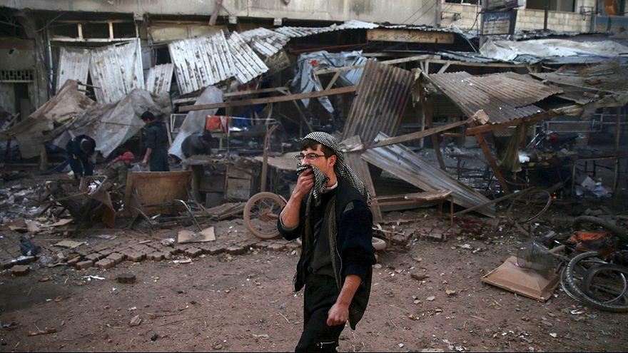 Десятки человек погибли при авиаударах по пригородам Дамаска