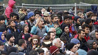 Desespero na fronteira entre a Áustria e Eslovénia