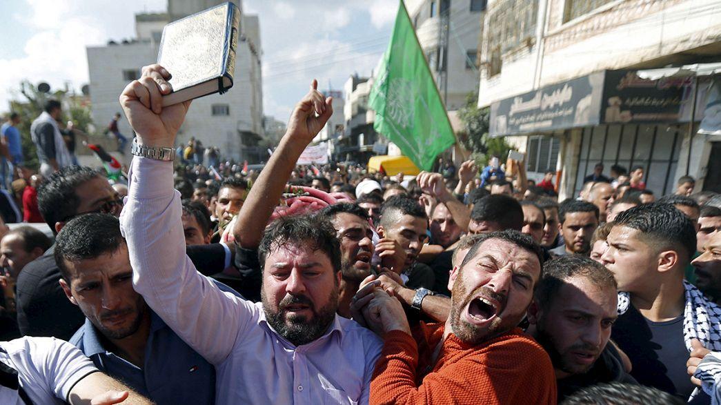 Filistin'de cenaze öfkesi