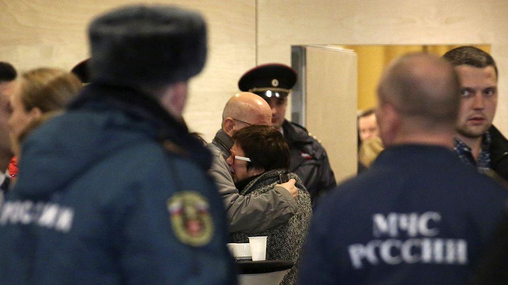 Rusya uçak kazasında ölenler için yasta