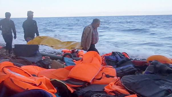 Bodies of migrants and refugees wash ashore on Greek island of Lesbos