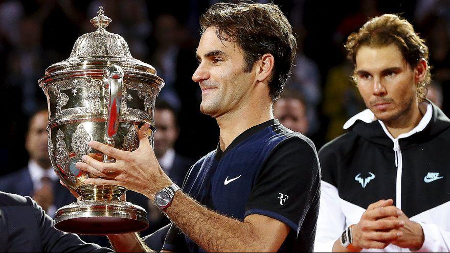 Роджер Федерер побеждает Рафаэля Надаля в финале турнира в Базеле