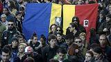 Marche silencieuse à Bucarest en hommage aux trente morts de la discothèque Colectiv Club