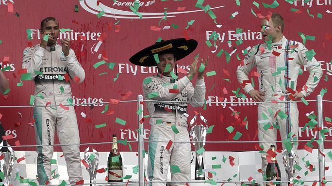 الألماني نيكو روزبيرغ يفوز بالفورمولا1 في مكسيكو