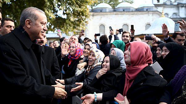 Erdogan calls on world to accept AKP election victory in Turkey