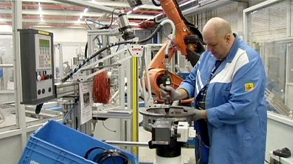 Слабый промышленный рост в еврозоне