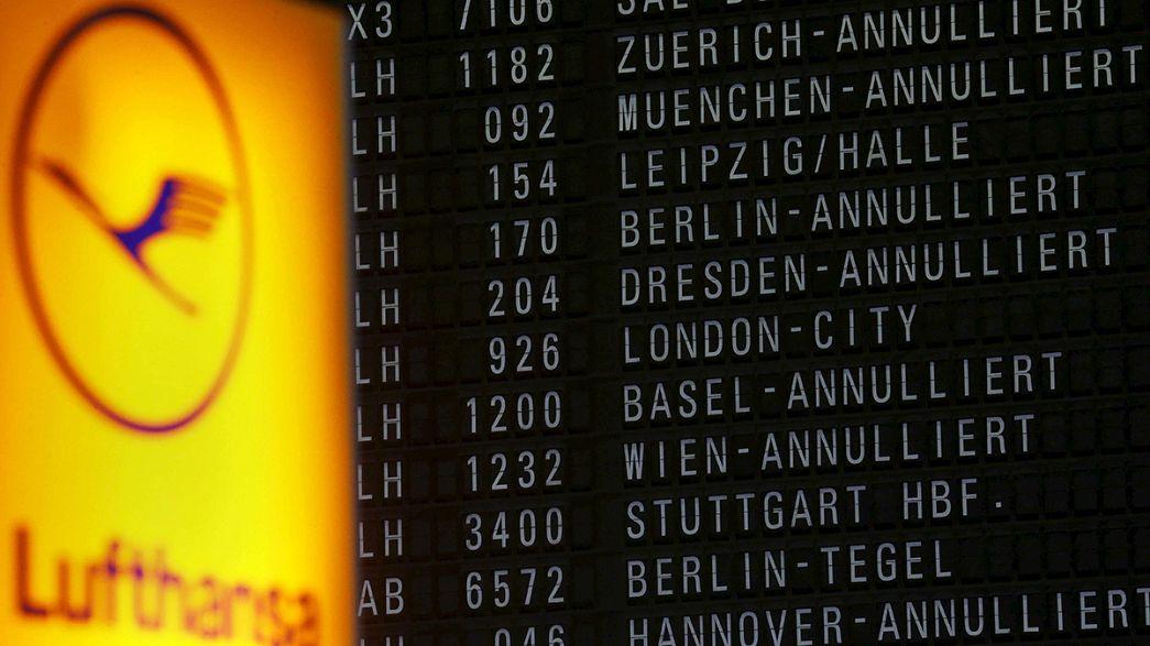 Pessoal de cabine da Lufthansa pode entrar em greve a partir de sexta-feira