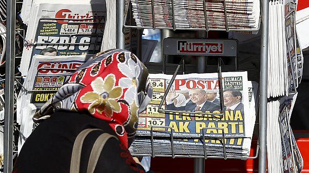 سرکوب مخالفان و بستن نشریات مخالف دولت در ترکیه