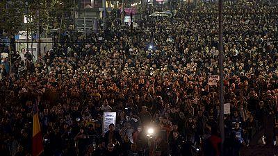 Multitudinaria manifestación en Bucarest contra el Gobierno de Victor Ponta