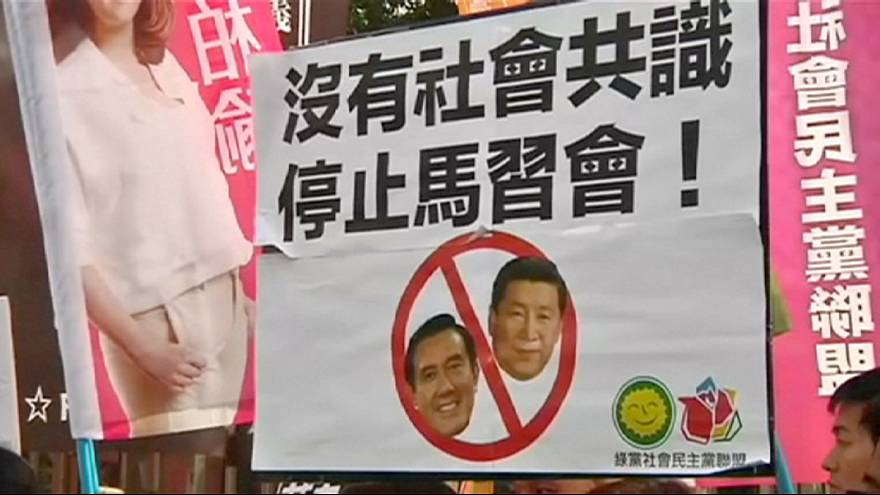 لقاء تاريخي يجمع زعيمي الصين وتايوان