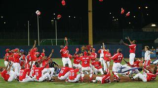 Image: Cuba celebrate Olympic baseball gold