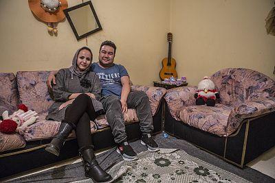 Foroozan Amiri and her husband Rohullah.