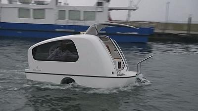 Amphibious caravan is the new luxury camping