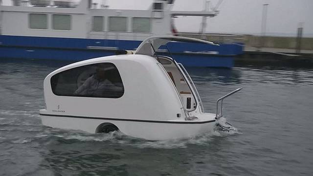 Amphibious caravan is the new luxury camping