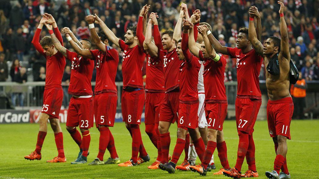 Champions League: Roma soffre ma vince, Bayern schiaccia-Arsenal, Zenit agli ottavi