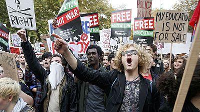 Une manifestation étudiante dégénère à Londres