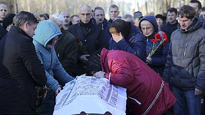 Erstes Airbusabsturzopfer in Russland beigesetzt