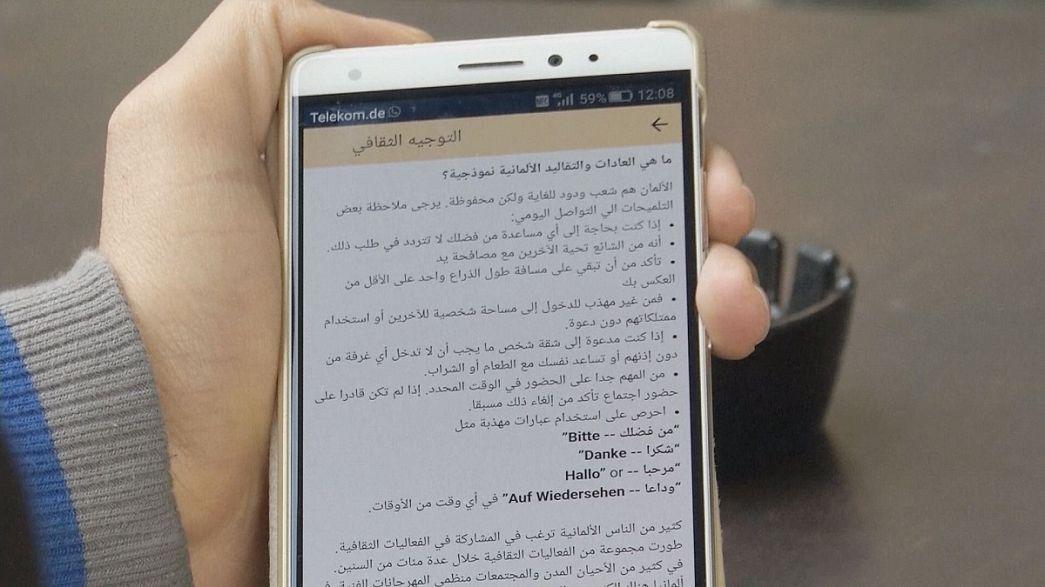 Smartphone-App für Flüchtlinge in Deutschland