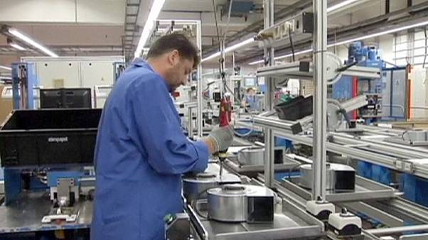 Encomendas à indústria alemã descem